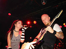Amy Lee and Ben Moody onstage