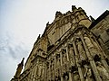 Exeter Cathedral Front, looking Up.jpg