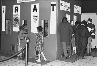 Anacostia Community Museum - Visitors at the Anacostia Neighborhood Museum's exhibit of The Rat: Man's Invited Affliction. The exhibit was on display from November 16, 1969 to January 31, 1970.