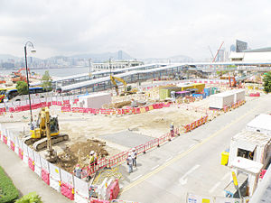 Exhibition Station under construction in July 2015.jpg