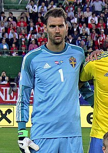 FIFA World Cup-qualification 2014 - Austria vs Sweden 2013-06-07 (003) - Andreas Isaksson (edited).jpg