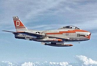VF-121 - VF-121 FJ-3M in 1957