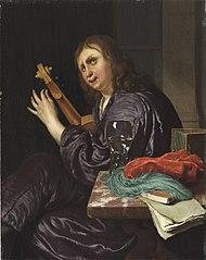 A Man Tuning a Violin