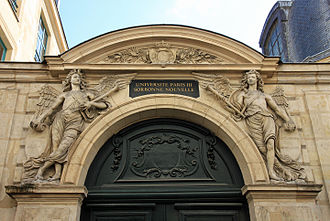 École nationale supérieure des arts décoratifs - Former entrance to the royal school of drawing under Louis XV.