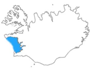 Faxa Bay - Faxa Bay shown in blue