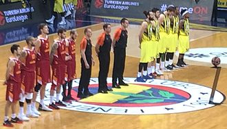 2016–17 EuroLeague - Fenerbahçe vs. Galatasaray Odeabank pre-match ceremony