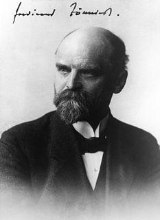 Ferdinand Tönnies German sociologist, economist and philosopher