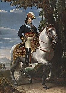 Equestrian portrait of Ferdinand by José de Madrazo y Agudo, 1821 (Source: Wikimedia)