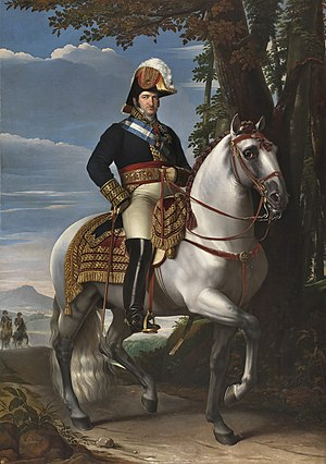 Ferdinand VII of Spain - Equestrian portrait of Ferdinand by José de Madrazo y Agudo, 1821