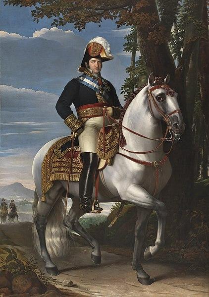 Retrato de Fernando VII a caballo. 1829