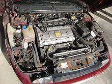 Motore di una Fiat Coupe 20v Turbo del 1998