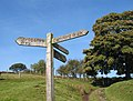 Fingerpost in Ratlinghope, Shropshire, England.jpg