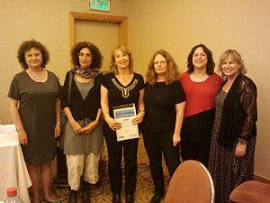 Library assessment - University of Haifa, Library Assessment Team receiving the Finkler Prize for Information, 2012