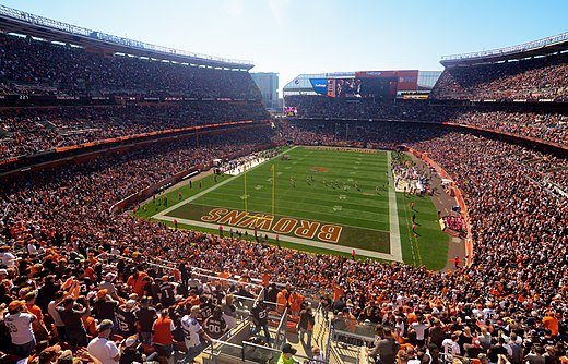 Cleveland Browns games attract large crowds to FirstEnergy Stadium. FirstEnergy Stadium 2014.jpg