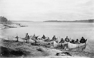 Nelson River - First Nations people on the Nelson River, 1878