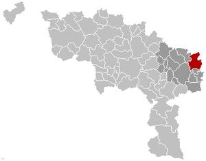 Fleurus - Image: Fleurus Hainaut Belgium Map