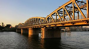 Talkha - Image: Flickr Hu Tect Sh Ots Train Bridge with Nile River El.Mansoura Egypt 04 04 2010