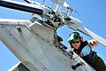 Flickr - Official U.S. Navy Imagery - A Sailor performs maintenance on a helicopter..jpg
