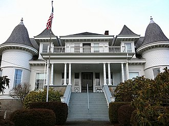 National Register of Historic Places listings in Columbia County, Oregon - Image: Flippin House Clatskanie Oregon