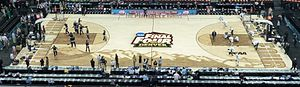 2012 NCAA Division I Women's Basketball Tournament - Floor of arena in Pepsi Center, Denver