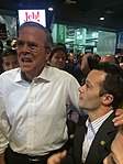 Florida Governor Jeb Bush with campaign aide Mike Norris after the 2016 Cleveland Presidential Debate.jpg
