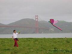Flying a kite near Golden Gate Bridge.jpg