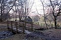 Footbridge on a woodland path - geograph.org.uk - 1750896.jpg