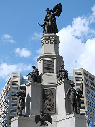 Michigan Soldiers' and Sailors' Monument - Seen in front of Compuware World Headquarters on Campus Martius