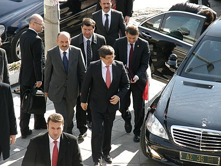 Davutoglu visiting Western Thrace in 2011 Foreign Minister Ahmet Davutoglu in Western Thrace 1.jpg