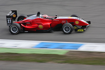 Formula Three car racing at the Hockenheimring, 2008 Formel3 racing car amk.jpg