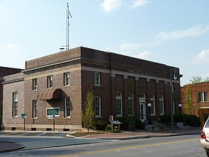 National Register of Historic Places listings in Haywood County, North Carolina - Image: Former US Post Office Building Waynesville, NC