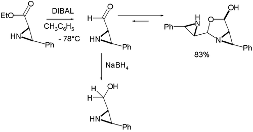 Formyl Aziridine Reactivity