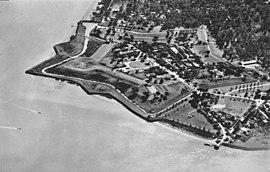 Aerial photo Fort Nieuw Amsterdam 1966