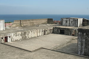 Cihou Fort - The battery with two visible emplacements overlooking Taiwan Strait
