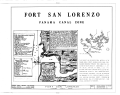 Fort San Lorenzo, Chagres River, Colon, Former Panama Canal Zone, CZ HABS CZ,1-COLON.V,1- (sheet 1 of 2).png