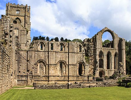 The ruins of Fountains Abbey, now another World Heritage Site Fountains abbey 011 (19132005443).jpg