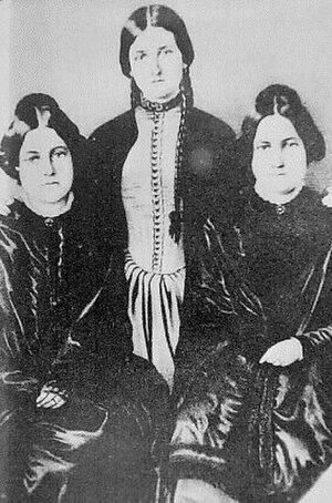 Spiritism - Fox sisters, left to right: Margaret, Kate, Leah