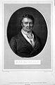 François Joseph Victor Broussais. Line engraving by H. Bonvo Wellcome L0022241.jpg