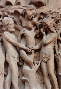 France Paris Notre-Dame-Adam and Eve