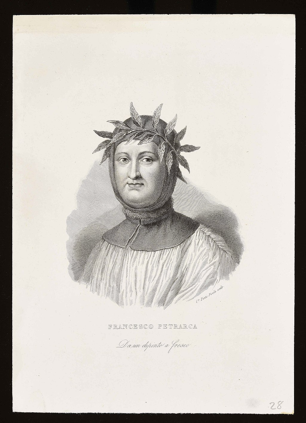 Francesco Petrarca. Caterina Piotti-Pirola sculp