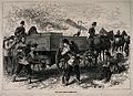 Franco-Prussian War; soldiers using the new army filter-van. Wellcome V0015477.jpg