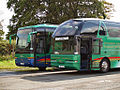 Fraser Eagle coaches (YJ04 BYB) & (T9 FEG), 6 September 2008.jpg