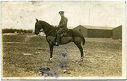 Fred C Palmer equestrian portrait WWI