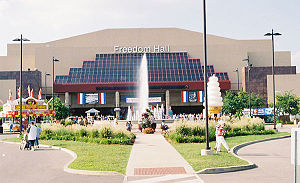 I snapped this photo of :en:Freedom Hall durin...