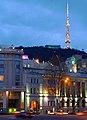 Freedom square and Mtatsminda TV tower (10600633603).jpg