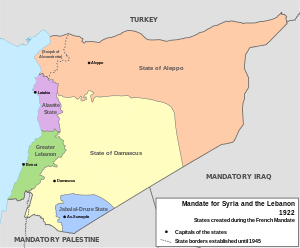 French Mandate for Syria and the Lebanon map en.svg