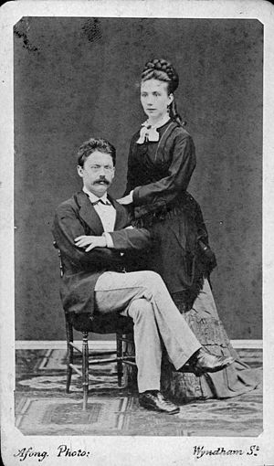 Friedrich Hirth - Hirth and wife in 1872
