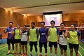 Friendly match between Australian and Indonesian badminton players 2016.jpg