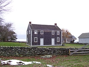 Little Compton, Rhode Island - Friends Meeting House and Cemetery built in 1815
