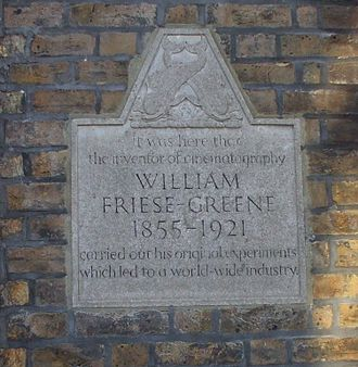 William Friese-Greene - Plaque at Middle Street, Brighton
